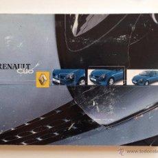 Coches y Motocicletas: MANUAL INSTRUCCIONES USUARIO RENAULT CLIO 2002. Lote 51961007