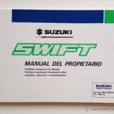 Coches y Motocicletas: MANUAL INSTRUCCIONES USUARIO SUZUKI SWIFT 1999. Lote 51961272