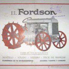Coches y Motocicletas: CATÁLOGO ORIGINAL DE TRACTOR FORDSON EN ESPAÑOL. AÑOS 20.. Lote 51967109
