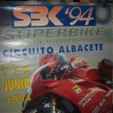 Coches y Motocicletas: CARTEL CIRCUITO ALBACETE SUPERBIKE 1994. Lote 194555947