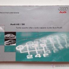 Coches y Motocicletas: MANUAL INSTRUCCIONES USUARIO AUDI A8 / S8 1997. Lote 52297646