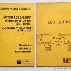 Coches y Motocicletas: LIBRO DOCUMENTACIÓN TECNICA INYECCION JETRONIC PEUGEOT. Lote 52361969