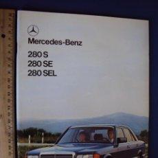 Coches y Motocicletas: (CAT-135)CATALOGO MERCEDES-BENZ,280 S,280 SE,280 SEL,ESPAÑOL,48 PAGINAS. Lote 52390921