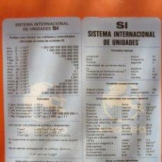 Coches y Motocicletas: PEGASO SISTEMA INTERNACIONAL DE UNIDADES ENASA FOLLETO PLASTIFICADO EN CUATRO CARAS. Lote 52461780