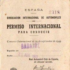 Coches y Motocicletas: PERMISO INTERNACINAL DE CONDUCIR . Lote 52468988