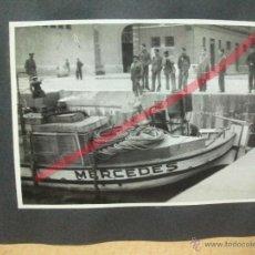 Coches y Motocicletas: + GASOGENO PARA BARCO.LOTE 7 FOTOS ORIGINALES FABRICA OLABOUR BARCELONA. 17X 11 CM. 1945. Lote 52497604