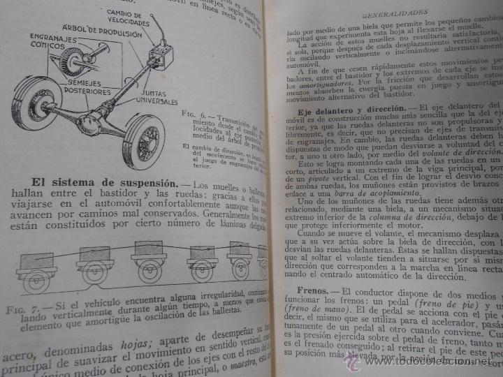 Coches y Motocicletas: MANUAL DEL AUTOMOVIL. LUIS GILI EDITOR. DESCRIPCION COMPLETA EN LENGUAJE SENCILLO. TDK129 - Foto 2 - 52532186