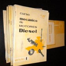 Coches y Motocicletas: MECANICO DE MOTORES DIESEL / CEAC / 1961 / 24 FASCICULOS + INDICE / CURSO COMPLETO. Lote 103146655