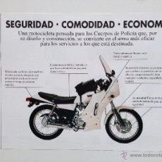 Coches y Motocicletas: YAMAHA SR 250 POLICIA CATALOGO PUBLICIDAD ORIGINAL. Lote 52595492