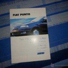 Coches y Motocicletas: CATALOGO FIAT PUNTO. Lote 52746580