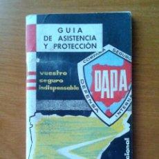 Coches y Motocicletas: GUIA DE ASISTENCIA Y PROTECCION SEGUROS DAPA, 79 PAGINAS. Lote 52863431