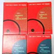 Coches y Motocicletas: MECANICA DEL AUTOMOVIL. 4 TOMOS. EXAMEN TEORICO DE CONDUCCION. CURSO PROGRAMADO 1970. TDK239. Lote 53086401