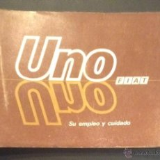 Coches y Motocicletas: MANUAL DE INSTRUCCIONES DE 1986 FIAT UNO SU EMPLEO Y CUIDADO. Lote 53153343