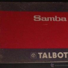 Coches y Motocicletas: MANUAL DE INSTRUCCIONES DE 1982 TALBOT SAMBA. Lote 53157939
