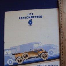 Coches y Motocicletas: (CAT-1201)CATALOGO RENAULT,CAMIONETAS 6 C.V.FRANCES. Lote 53255517