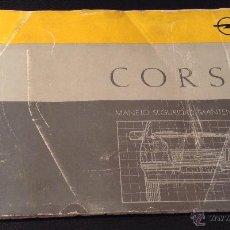 Coches y Motocicletas: MANUAL DE MANEJO SEGURIDAD Y MANTENIMIENTO INSTRUCCIONES OPEL CORSA DE 1987. Lote 53330737