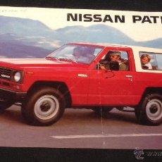 Coches y Motocicletas: FOLLETO CATALOGO PUBLICIDAD ORIGINAL NISSAN PATROL 4 WD DE 1983. Lote 53367005