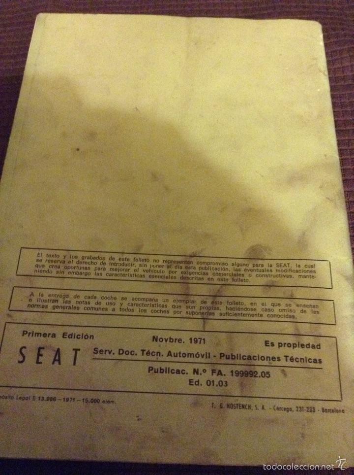 Coches y Motocicletas: Uso y entretenimiento - seat 124 d - noviembre 1971 - tdk255 - Foto 3 - 53423201