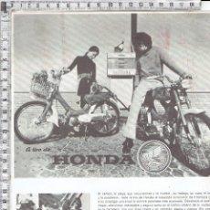 Coches y Motocicletas: PUBLICIDAD HONDA CICLOMOTORES PC-50-SERVETA INDUSTRIAL.. Lote 53453688