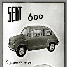 Coches y Motocicletas: AZULEJO 40X25 DE PUBLICIDAD SEAT 600 . Lote 54841644