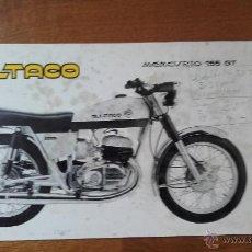 Coches y Motocicletas: BULTACO CATALOGO ORIGINAL MERCURIO 155 GT PRESERIE. Lote 53574612