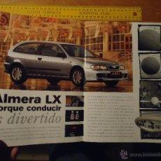 Coches y Motocicletas: ANTIGUO CATALOGO PUBLICITARIO COCHE - NISSAN ALMERA - JUNE 99 EN ESPAÑOL 31 PAGINAS BUEN ESTADO. Lote 150092729