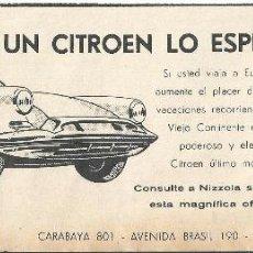 Coches y Motocicletas: ANUNCIO PUBLICITARIO CITROEN 1961. Lote 53692359