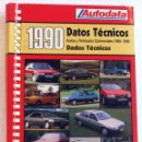 Coches y Motocicletas: LIBRO MANUAL DATOS TÉCNICOS AUTODATA 1980 - 1990. Lote 55076794