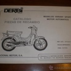 CATALOGO DESPIECE ORIGINAL MOTOCICLETA DERBI MODELO VARIANT SPORT 1989. NUEVO, SIN USO