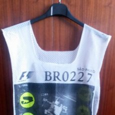 Coches y Motocicletas: PETO-DORSAL PRENSA F-1 -BRASIL 2001. Lote 53959258