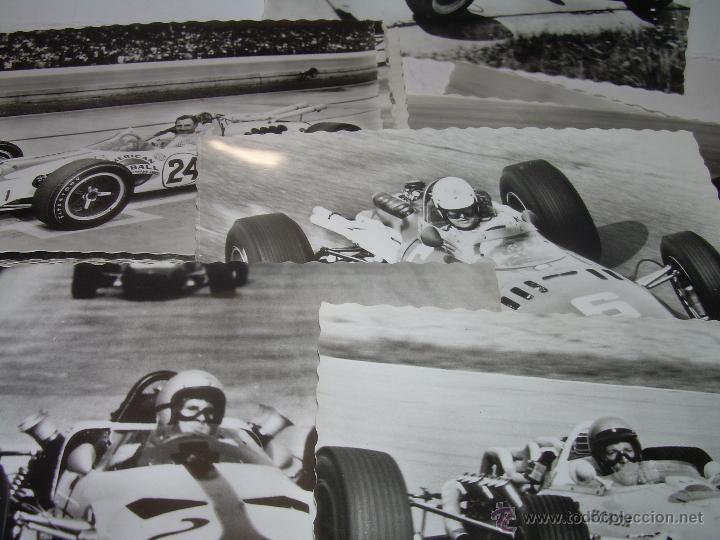 Coches y Motocicletas: DOCE POSTALES FOTOGRAFICAS....COLECCION COMPLETA....AÑO..1.966..SERIE A. MONOPLACES F I - FII - FIII - Foto 6 - 54029321