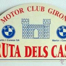 Coches y Motocicletas: PLACA DE LA VIII RUTA DELS CASTELLS - MOTOR CLUB GIRONA1999.. Lote 54033932