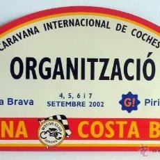 Coches y Motocicletas: PLACA DE LA XXXIX CARAVANA INTERNACIONAL DE COCHES VETUSTOS - MOTOR CLUB GIRONA 2002.. Lote 54034730