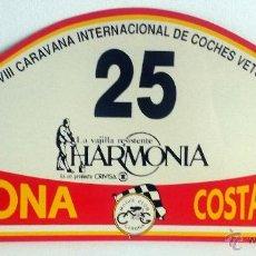 Coches y Motocicletas: PLACA Nº 25 DE LA XXVIII CARAVANA INTERNACIONAL DE COCHES VETUSTOS - MOTOR CLUB GIRONA.. Lote 54034895