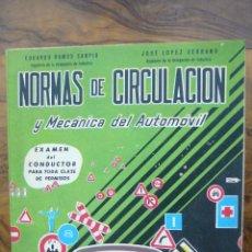 Coches y Motocicletas: NORMAS DE CIRCULACIÓN Y MECÁNICA DEL AUTOMÓVIL. 1965. . Lote 54046874