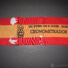 Coches y Motocicletas: BRAZALETE CRONOMETRADOR REAL AUTOMOVIL CLUB DE CATALUÑA Y BALEARES - VER FOTOS - ( V- 4212). Lote 54064139