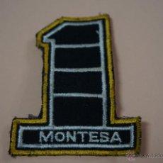 Coches y Motocicletas: ESCUDO DE MOTOS:MOTO MONTESA,DE TELA,HAZTE CON EL. Lote 54166313