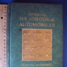 Coches y Motocicletas: (CAT-1407)MANUAL OFICIAL DE AUTOMÓVILES1929,INGLES,221 PAGINAS,PERTENECIO A JOSE GALLART FOLCH. Lote 54171257