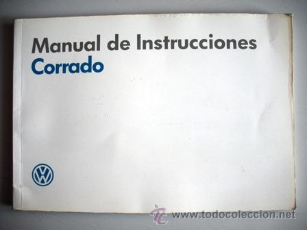 manual de usuario del volkswagen corrado comprar cat logos rh todocoleccion net vw corrado manual vw corrado bentley manual
