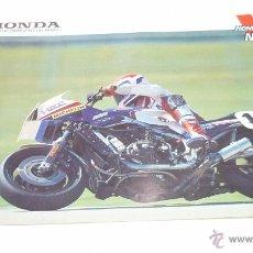 Coches y Motocicletas: MOTOCICLETA HONDA. CATÁLOGO DÍPTICO AÑO 1985. MUCHOS MODELOS. Lote 54322168