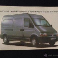 Coches y Motocicletas: FOLLETO CATALOGO PUBLICIDAD ORIGINAL RENAULT MASTER . Lote 54345491