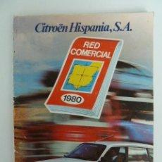 Coches y Motocicletas: CITROEN HISPANIA RED COMERCIAL 1980 CON MAPA DE CARRETERAS. Lote 54355011