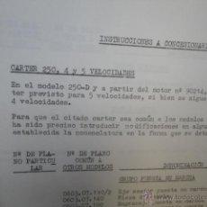 Coches y Motocicletas: CIRCULAR TECNICA ORIGINAL NUMERO 20 1966 DUCATI MOTOTRANS NUEVO CARTER PARA 250 D. Lote 72272029