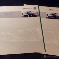 Coches y Motocicletas: FOLLETO CATALOGO PUBLICIDAD ORIGINAL SKODA FABIA DE 2002 SKÖDA. Lote 54464291
