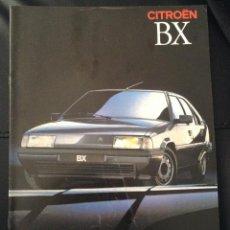 Coches y Motocicletas: FOLLETO CATALOGO PUBLICIDAD ORIGINAL CITROEN BX DE 1989 CITROËN . Lote 54538191