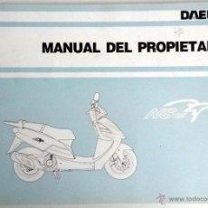 Coches y Motocicletas: DAELIM NS 125 - MANUAL DEL PROPIETARIO - INSTRUCCIONES. AÑO 1998. Lote 54539942