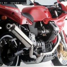 Coches y Motocicletas: CATALOGO PUBLICIDAD ORIGINAL MOTO GUZZI DAYTONA RS - SPORT 1100. . Lote 54624898