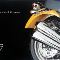 Coches y Motocicletas: CATALOGO PUBLICIDAD ORIGINAL TRIUMPH CLOTHING & ACCESSORIES.. Lote 54635035