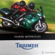Coches y Motocicletas: CATALOGO PUBLICIDAD ORIGINAL TRIUMPH TOURING MOTORCYCLES. 2001.. Lote 54635168