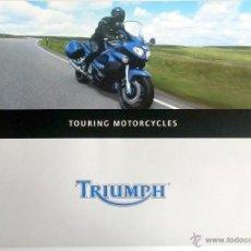 Coches y Motocicletas: CATALOGO PUBLICIDAD ORIGINAL TRIUMPH TOURING MOTORCYCLES.. Lote 54635196